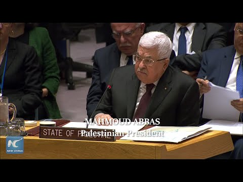 Abbas rejects U.S. Mideast peace plan at UN Security Council meeting