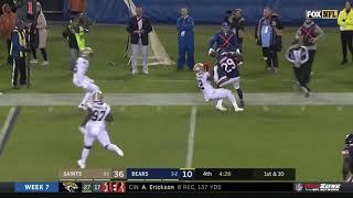 Saints Players Mock Tarik Cohens Height After Tackle | Saints vs Bears | NFL