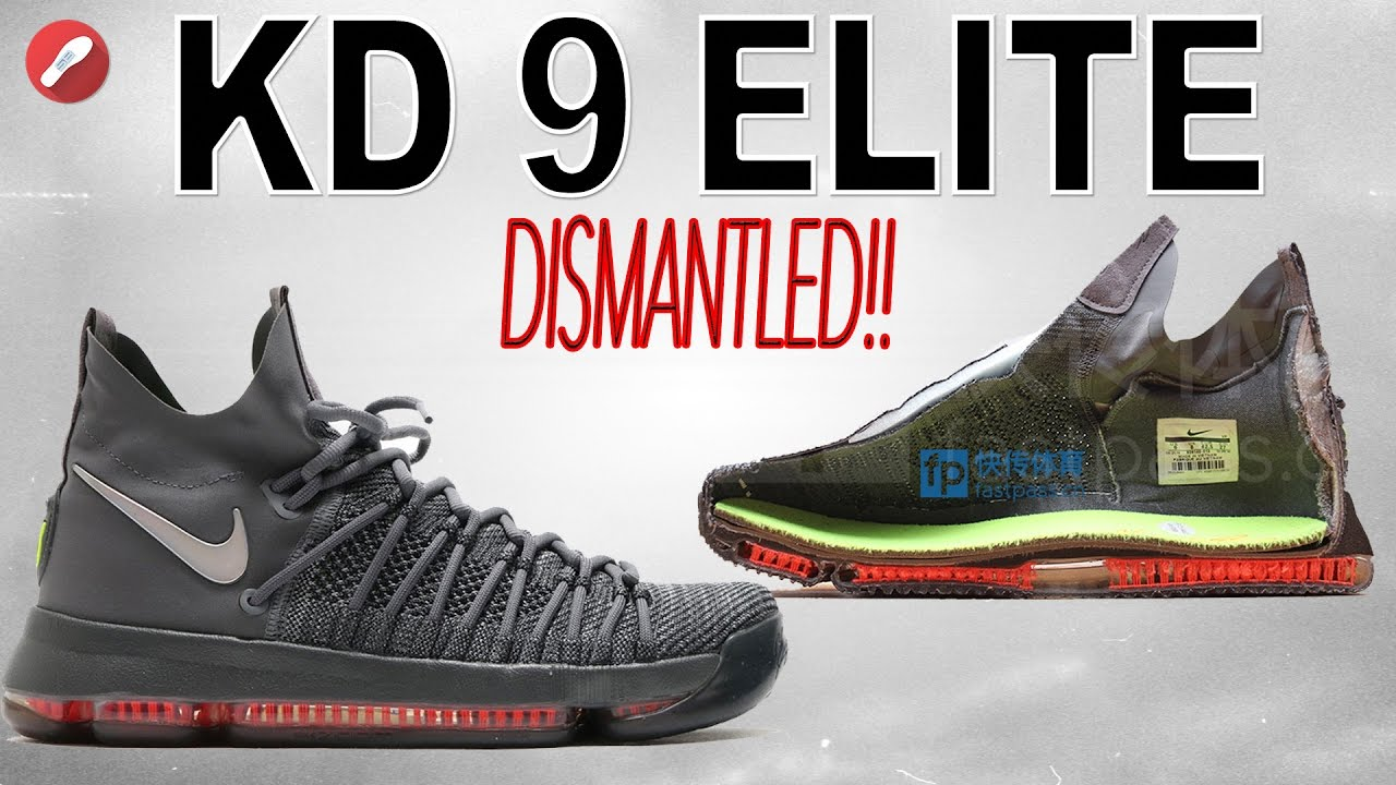 new product 55ab4 c20d2 Nike Kd 9 ELITE DISMANTLED! + regular Kd 9 Comparison! - YouTube