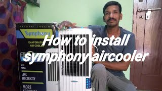How to unbox & install Symphony Diet 12T 12 Ltrs Air Cooler