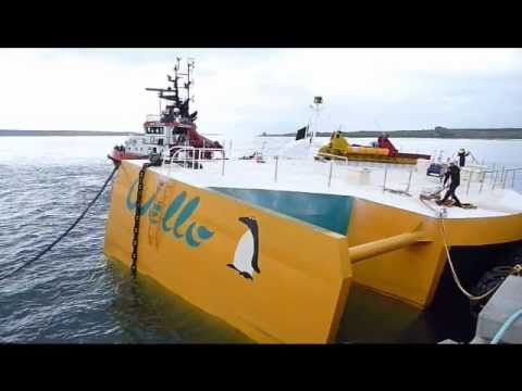 The Wello Oy 'Penguin' wave energy converter Lyness orkney