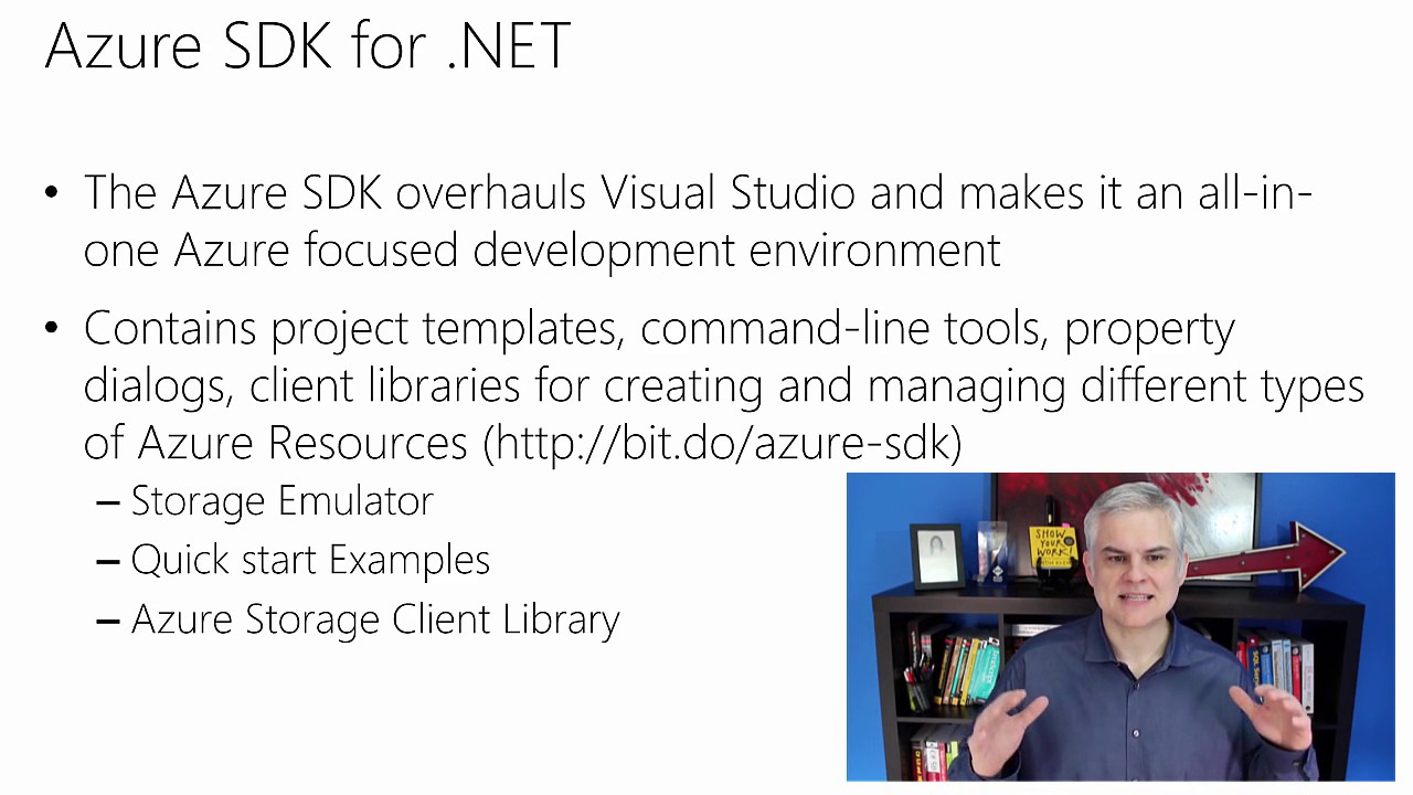 03 Understanding the Azure SDK and Azure Tools for Visual Studio - YouTube