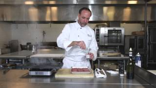 Ahi Tuna Burger With Chef Jeff Hyatt Of The White Apron Catering In Lake Worth, Florida