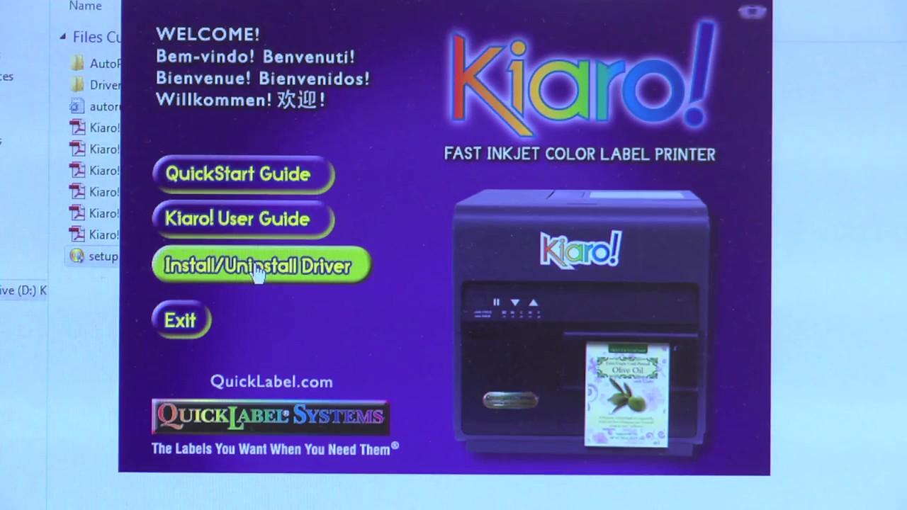 How to Install the Kiaro! Windows Printer Driver and Maintenance Utility  via USB