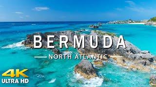 FLYING OVER BERMUDA (4K UHD) Amazing Beautiful Nature Scenery with Relaxing Music (4K Video UltraHD)