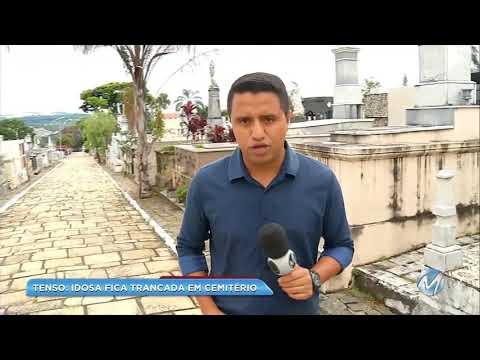 Mulher fica presa em cemitério em Campos Gerais