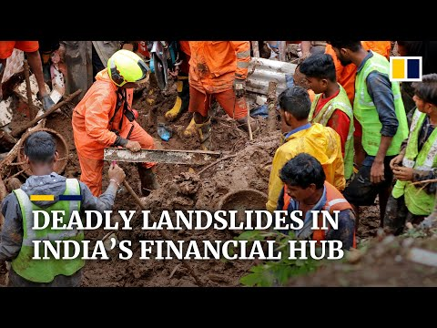 Monsoon rains trigger deadly landslides, disrupt traffic and water supplies in Mumbai