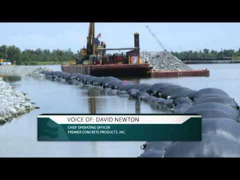 Riverlite® Geotextile Bags Restore Shoreline