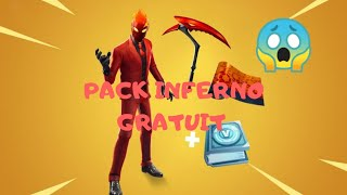 #Fortnite #packinferno COMMENT AVOIR LE PACK INFERNO GRATUITEMENT!!! Lire la description