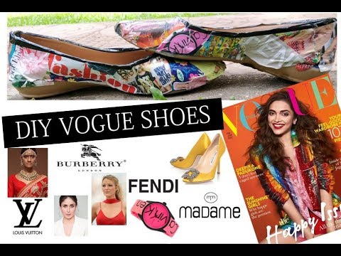 DIY Shoes using VOGUE Magazine – Decoupage || Ishita Agrawal