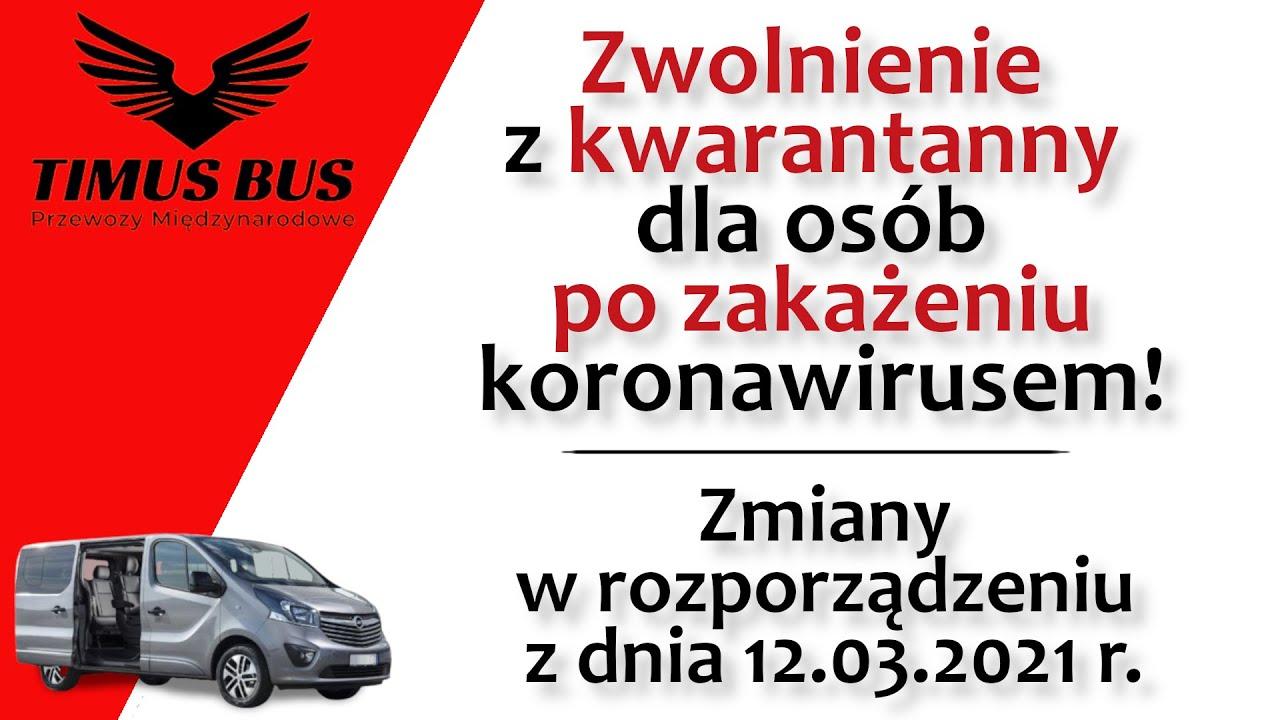 Zwolnienie z kwarantanny dla osób po COVID-19 przyjeżdżających do Polski   Timus Bus