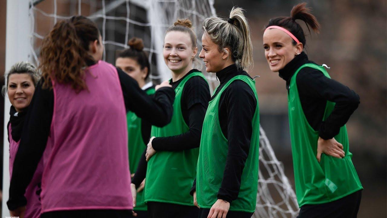 Juventus Women Get Ready For Atalanta Match Youtube
