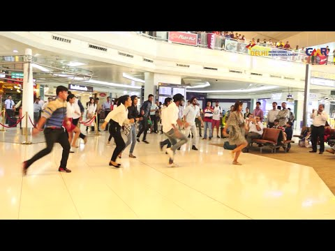 Flash Mob at Delhi Airport. #10JoyfulYears