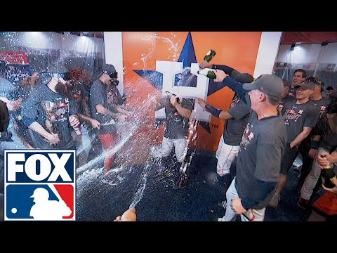 FOX MLB Crew reacts to Houston's locker room celebration   2017 MLB Playoffs   FOX MLB