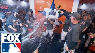 FOX MLB Crew reacts to Houston's locker room celebration | 2017 MLB Playoffs | FOX MLB