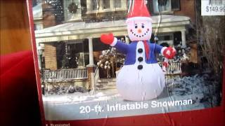 Giant Inflatable Snowman Test