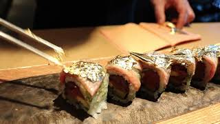 Zuma serves a sushi roll topped with 24-karat gold