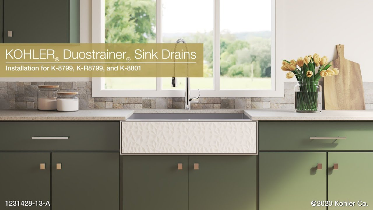 installation duostrainer kitchen sink drains