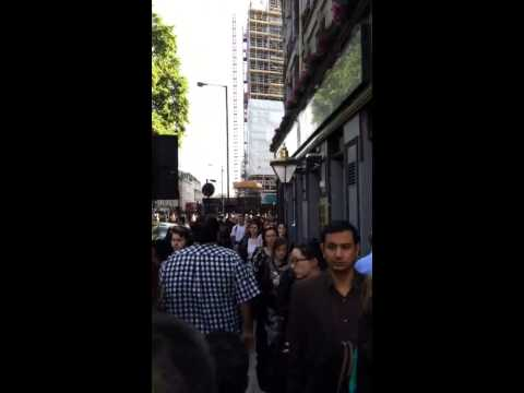 Line for buses in London