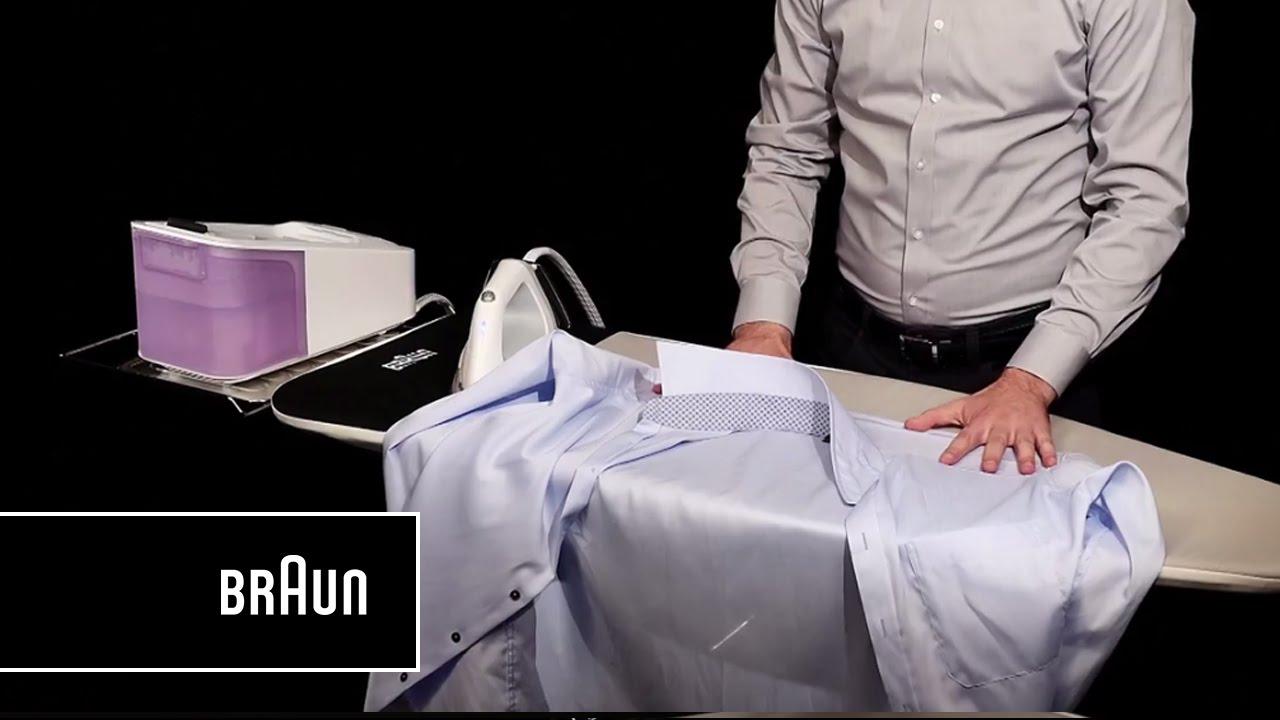 comment bien repasser une chemise avec la centrale vapeur. Black Bedroom Furniture Sets. Home Design Ideas