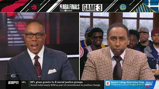 """Stephen A. Smith """"Quick Review"""": Game 3 - Raptors vs Warriors in Wednesday 