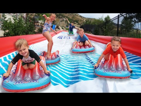 WORLD'S BIGGEST BACKYARD SLIP AND SLIDE!