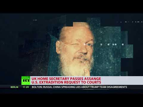 Sajid Javid has signs U.S. extradition order for Julian Assange.