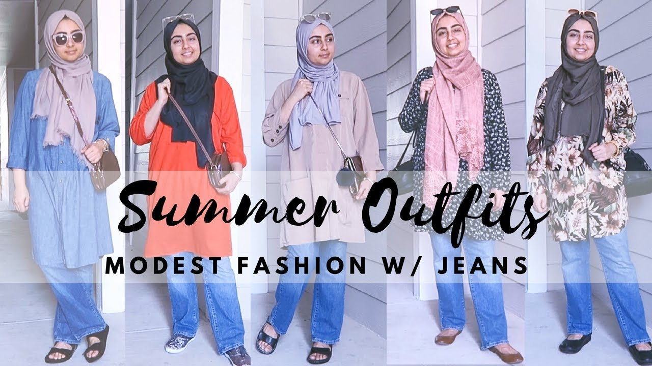 64c87b09277 SUMMER OUTFITS LOOKBOOK - HIJAB FASHION IDEAS WITH JEANS - YouTube