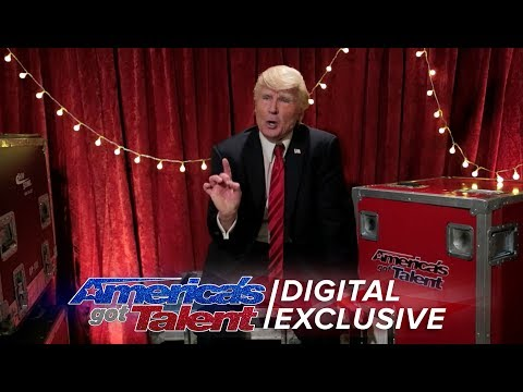Singing Trump Addresses the AGT Nation - America's Got Talent 2017