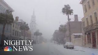 Southern U.S. Experiences Winter Weather As Storm Moves Up The East Coast | NBC Nightly News