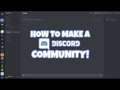 How to make a simple Discord community!