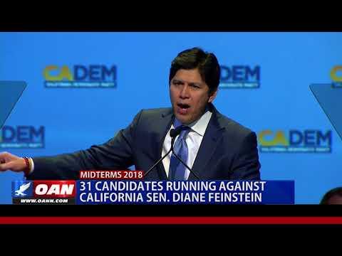 31 Candidates Running Against California Sen. Diane Feinstein