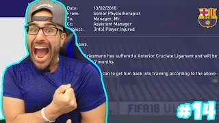 NOOO! RIP WE LOST AN AMAZING PLAYER! - FIFA 18 CAREER MODE BARCELONA #14