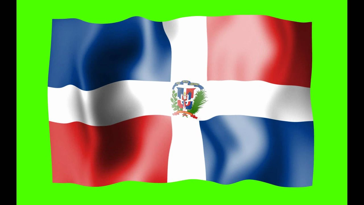 Dominican Republic Waving Flag Green Screen Animation  Free