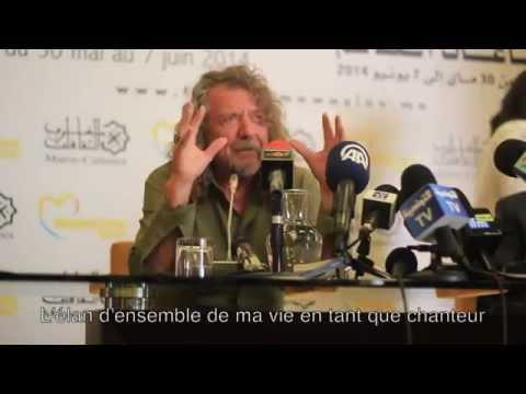 Rabat - MAROC : Conférence de presse Robert Plant au Festival MAWAZINE 2014