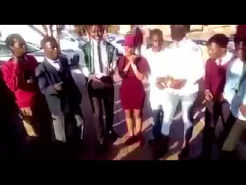 High school learners sing Nomvula
