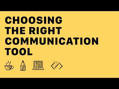 ☕✏️👩💻 – Choosing The Right Communication Tool