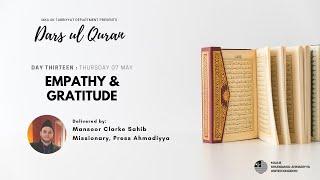 Daily Dars ul Quran #13: Empathy and Gratitude #Ramadan2020