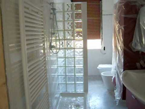 Bathroom with shower in concrete glass   youtube