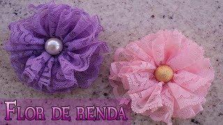 FLOR DE RENDA – DIY – PASSO A PASSO