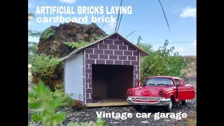 HOW TO BUILD CARDBOARD Artificial BRICK WALL: BRICKLAYING --- How to build a MINI GARAGE