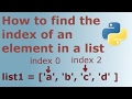 How to Find the Index of an Item given a List Containing in Python programming language
