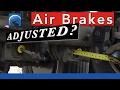 How to Determine Air Brake Adjustment :: Applied Stroke—Pry Bar—Mark & Measure