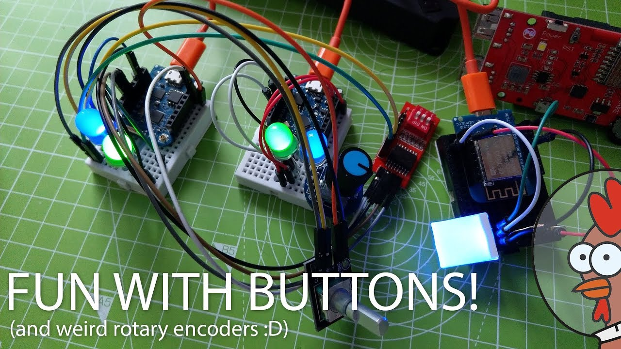 Arduino Library for Buttons & Rotary Encoders [WIP]