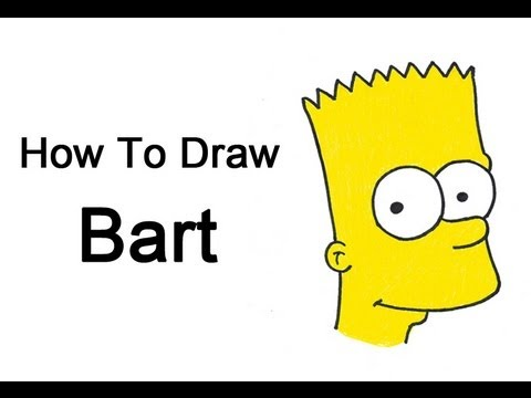 How To Draw Bart Simpson Youtube