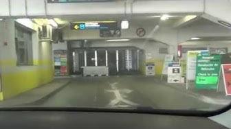 Malaga Flughafen Airport Mietwagen Rückgabe im Parkhaus Europcar