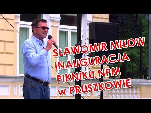 Sławomir Miłow - kandydat na wójta gminy Lesznowola - inauguracja pikniku NPM w Pruszkowie