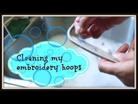 Husband is sick ~ cleaning my embroidery hoops ~ vlog ~ April 28, 2018