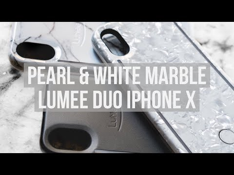 PEARL AND WHITE MARBLE LUMEE DUO FOR IPHONE X | UNBOXING