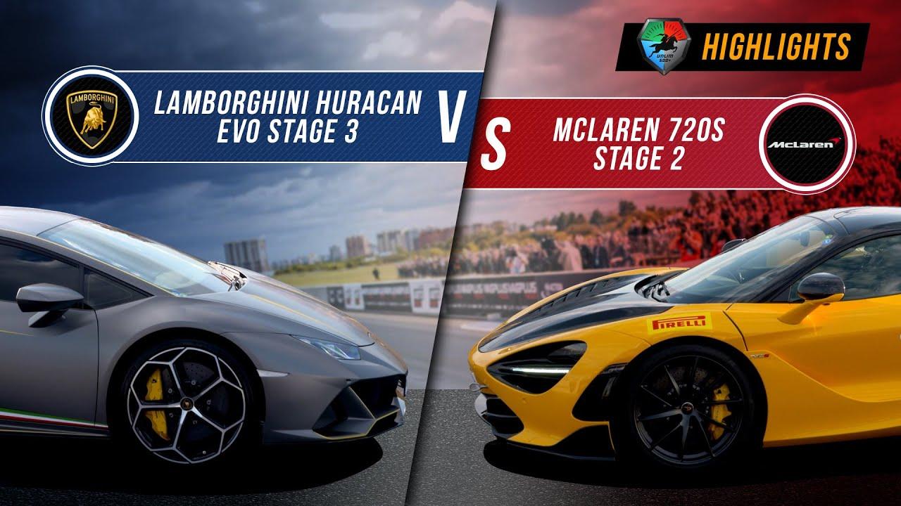 Lamborghini Huracan EVO St.3 vs McLaren 720s St.2 | UNLIM 500+ 2020 Highlight |